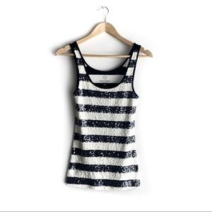 Old Navy Striped Sequinned Racerback Tank, Small